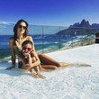 Alessandra and Her Daughter Are Beach Beauties