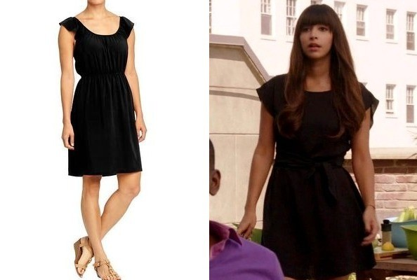 Hannah Simone's Flutter Sleeve LBD on 'New Girl'