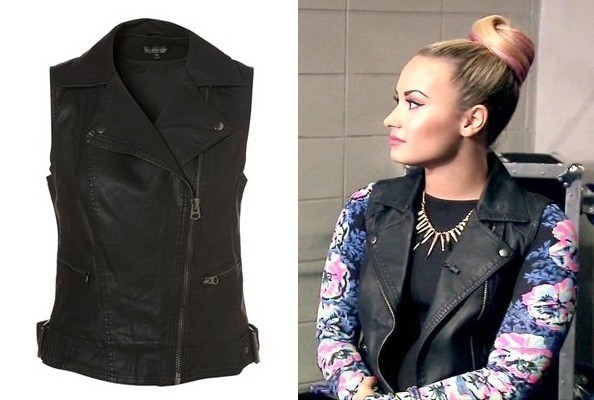 Demi Lovato's Biker Vest on 'The X Factor'