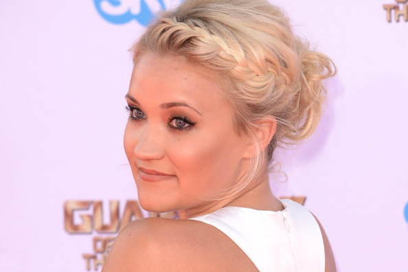 Hair Envy: Emily Osment's Braided Messy Updo