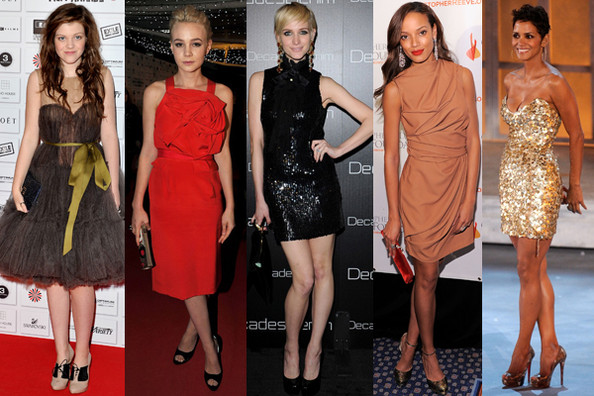 Holiday Party Dresses with Hollywood Style