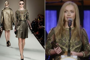 Hayden Panettiere's Gold Embellished Blouse on 'Nashville'