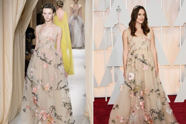 Keira Knightley in Valentino Spring 2015 Couture