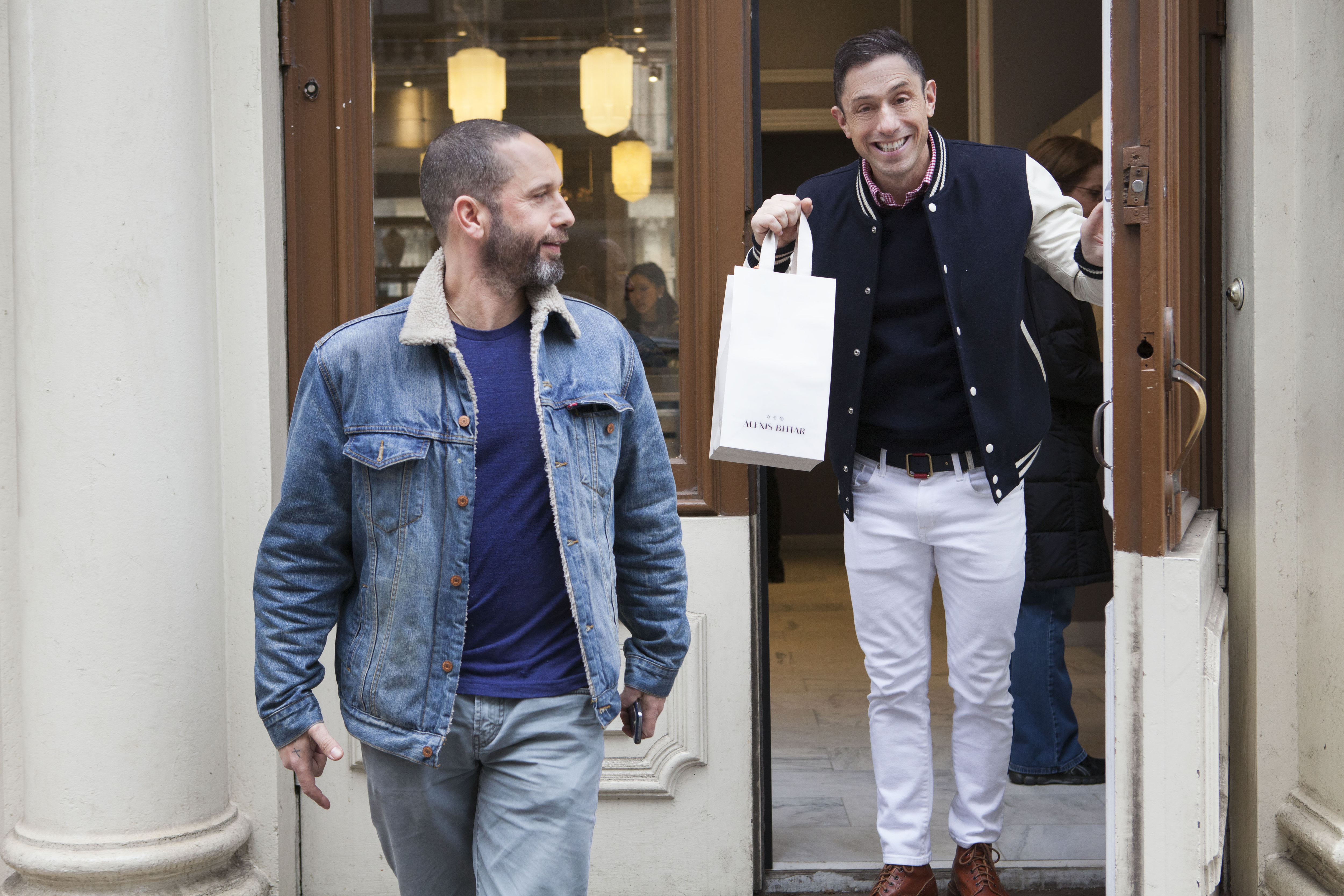 Jonathan Adler shopping for Mother's Day gifts with Alexis Bittar
