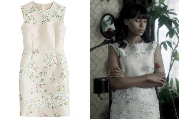 Kerry Washington's White Floral-Embroidered Dress on 'Scandal'