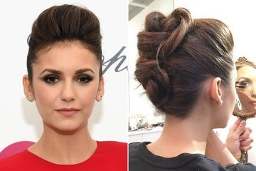 Nina Dobrev's Oscar Party 'Do Might Be the Coolest Thing We've Seen