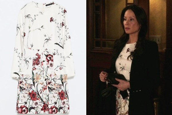 Lucy lius white long sleeve floral print dress on elementary tv lucy lius white long sleeve floral print dress on elementary mightylinksfo