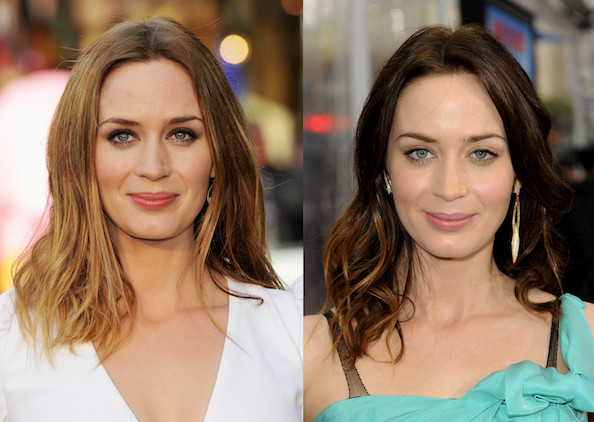 Emily Blunt Debuts New Blond Haircolor