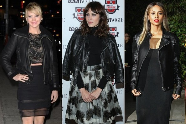 Moto-Elegant: 15 Pretty + Fierce Celeb Looks