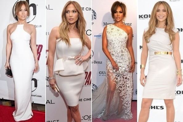 Jennifer Lopez's White Dress Love Affair