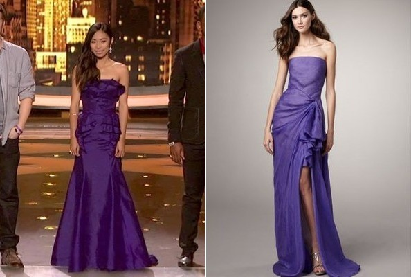 Jessica Sanchez's Purple Mermaid Gown on 'American Idol'