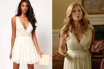 Connie Britton's Pleated Dress on 'Nashville'