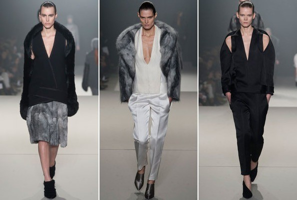 Alexander Wang's V-necks and Wide Collars