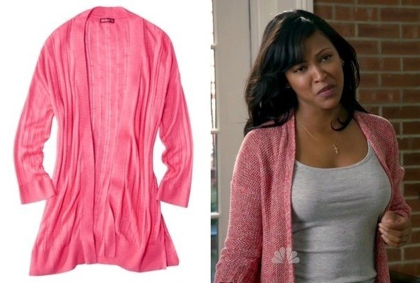 Meagan Good's Pink Cardigan on 'Deception'