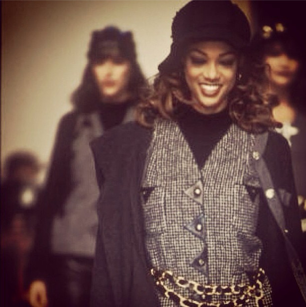 Tyra Banks On The Runway: In Paris, Walking The Chanel Runway At 17 Years Old