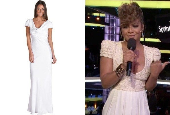 Christina Milian's White Gown on 'The Voice'