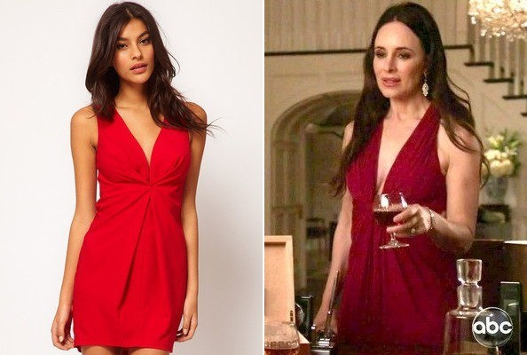 Madeleine Stowe's Red Dress on 'Revenge'