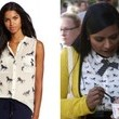 A Horse-Print Blouse Like Mindy Kaling's on 'The Mindy Project'
