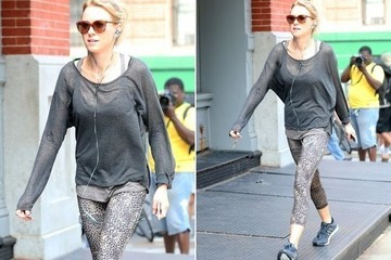 Found: Naomi Watts' Leopard-Print Leggings