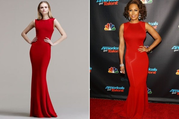 Mel B's Red Stella McCartney Mermaid-Skirt Gown on 'America's Got Talent'