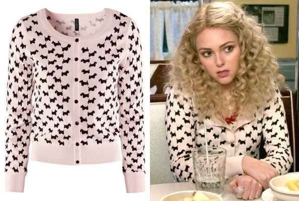 AnnaSophia Robb's Scottie Dog Cardigan on 'The Carrie Diaries'