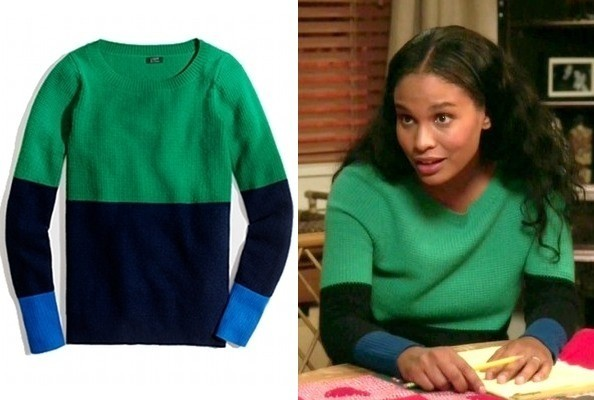 Joy Bryant's Color-Block Sweater on 'Parenthood'