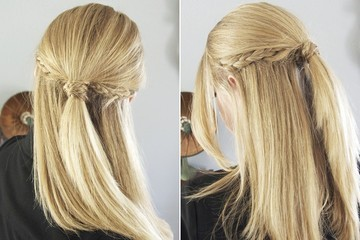 Yes, You Can Do This Tri-Braid Half Updo at Home