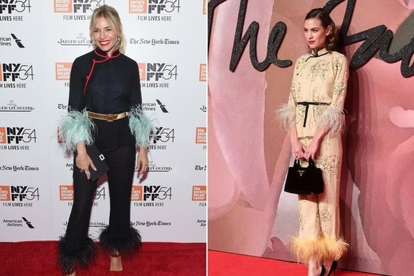 Sienna Miller and Alexa Chung in Prada