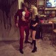 Julianne Hough and Brooks Laich as Felicity Shagwell and Austin Powers