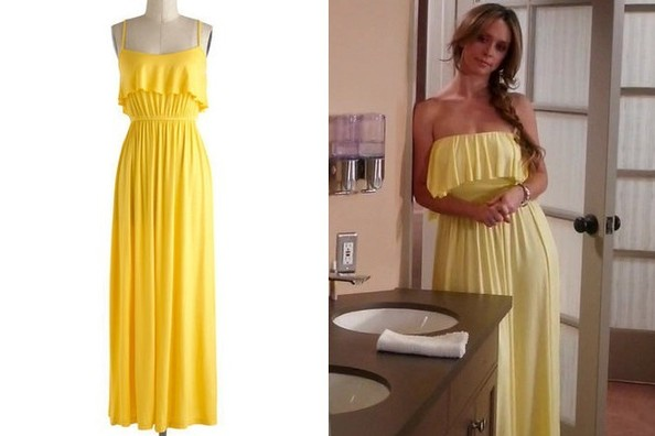 A Yellow Ruffled Maxi Dress Like Jennifer Love Hewitt's on 'The Client List'
