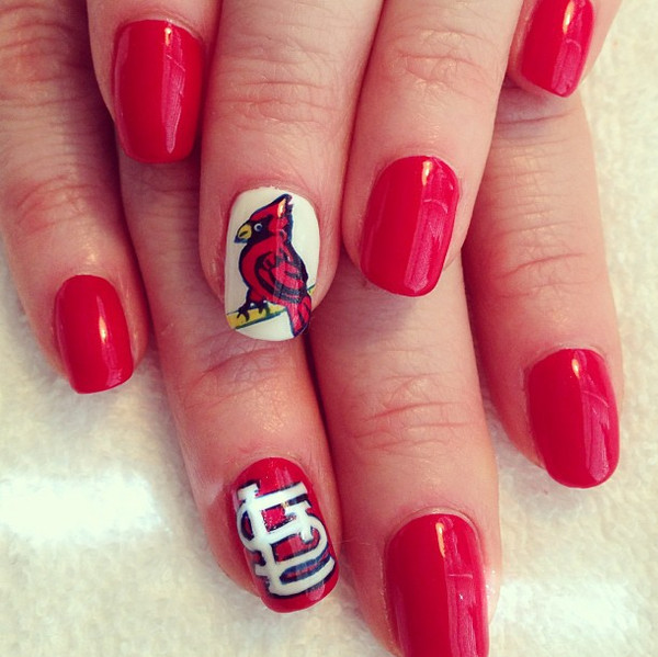 Here Are 10 Cute Baseball Nail Art Ideas - Happy Opening Day! Here Are 10 Cute Baseball Nail Art Ideas