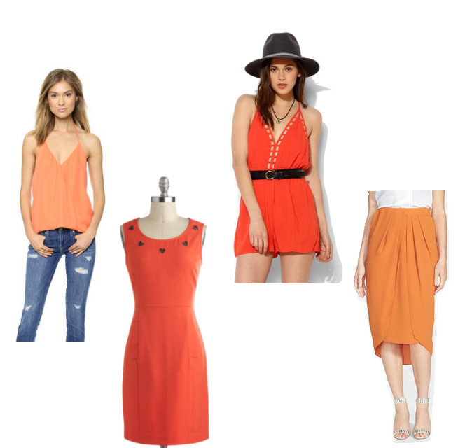 """<strong>Parker</strong> Kae Tank, $187, at <a href=""""http://www.shopbop.com/kae-tank-parker/vp/v=1/1562773786.htm?fm=search-viewall-shopbysize"""" target=""""_blank"""">Shopbop</a>; Swoon Enough Dress, $65, at <a href=""""http://www.modcloth.com/shop/dresses/swoon-enough-dress"""" target=""""_blank"""">modcloth.com</a>; <strong>Staring at Stars</strong>Lattice Deep V Romper, $69, at <a href=""""http://www.urbanoutfitters.com/urban/catalog/productdetail.jsp?id=31742893&cm_mmc=CJ-_-Affiliates-_-Polyvore-_-11292048"""">urbanoutfitters.com</a>; <strong>G.I.N.</strong> Pleat Sarong Skirt, $78, at <a href=""""http://shop.nordstrom.com/s/g-i-n-pleat-sarong-skirt/3827844?origin=keywordsearch-personalizedsort&contextualcategoryid=2375500&fashionColor=&resultback=7870&cm_sp=personalizedsort-_-searchresults-_-1_20_C"""" target=""""_blank"""">nordstrom.com</a>"""