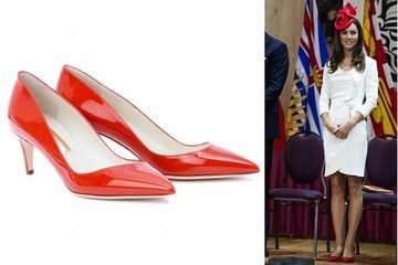 Kate Middleton Steps out in Canada in Rupert Sanderson Pumps