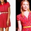 A Belted Red Dress Like Dianna Agron's  on 'Glee'