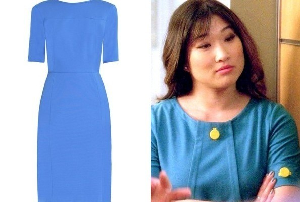A Structured blue Dress Like Jenna Ushkowitz's on 'Glee'