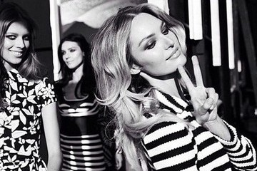 Candice Swanepoel Wears Stripes for DVF