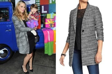 Found: Molly Sims' Tweed Blazer