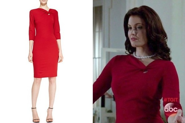 Bellamy Young's Red Knotted Sheath on 'Scandal'