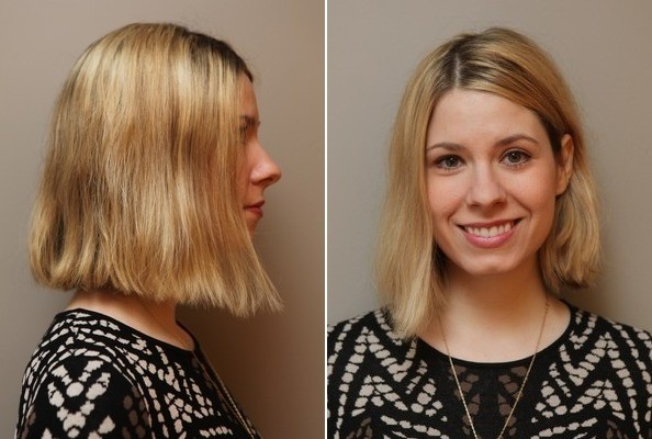 Start with a haircut that's slightly longer than chin-length