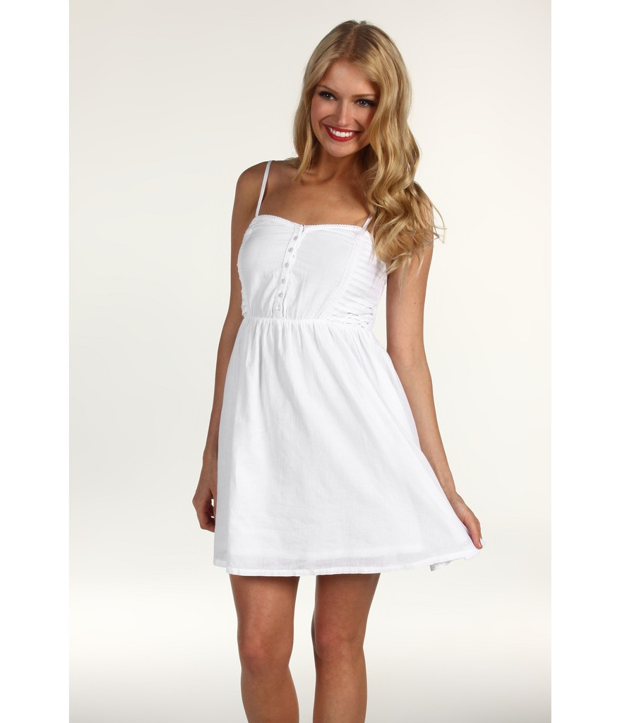 Little White Spaghetti Strap Dress Summer 2012 S Best