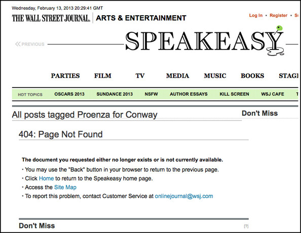 The Wall Street Journal's 'Proenza for Conway' Michelle Obama Tag Explained, Possibly