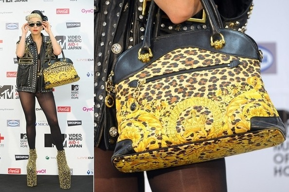 Into the Wild: Lady Gaga Totes Vintage Versace