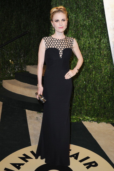 Anna Paquin Wore Alexander McQueen at the Vanity Fair Oscars Party 2013