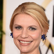 Claire Danes' Classic Updo and Royal Blue Eyeshadow