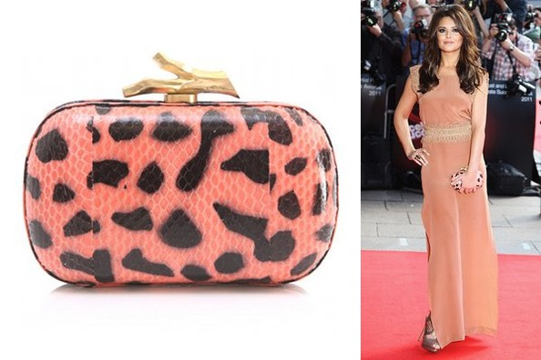 Spotted: Cheryl Cole Carries DVF Snakeskin Clutch