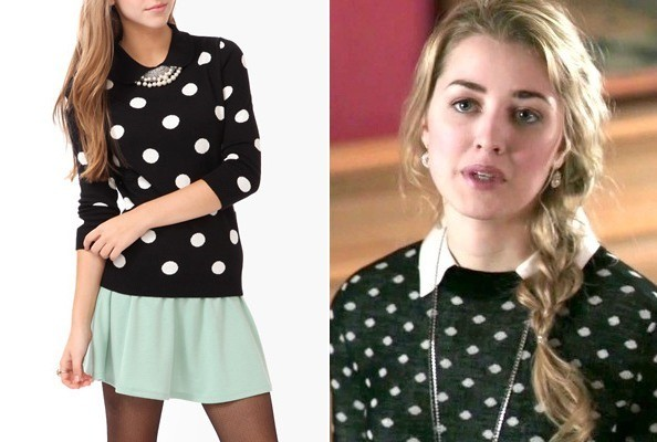 Ella Rae Peck's Collared Sweater on 'Deception'