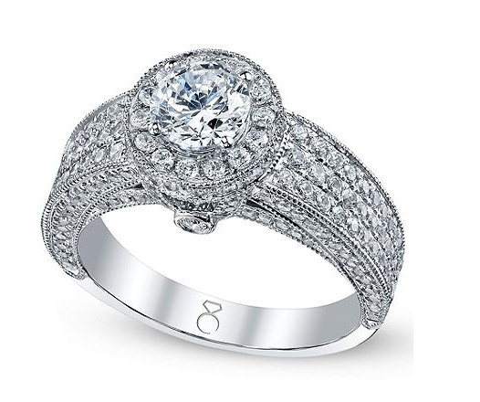 The Three Row Diamond Ring 200 Gorgeous Engagement Rings to
