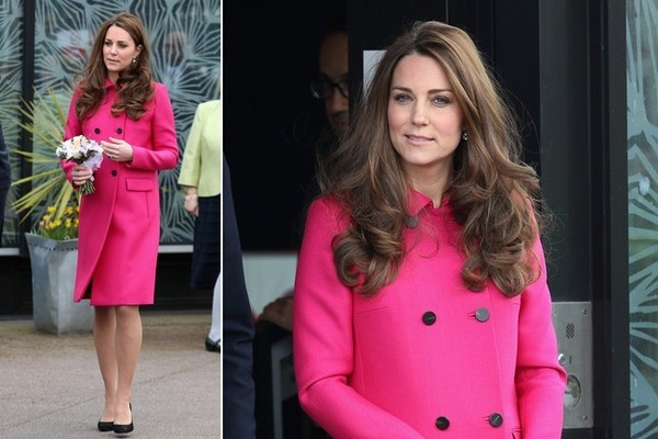 Kate Middleton Wears Pink a Her Last Engagement Before Maternity Leave