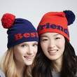 Best Friends Pom-Pom Hats