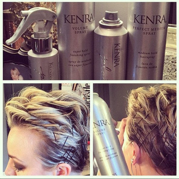 Kaley Cuoco Goes For Bobby Pins